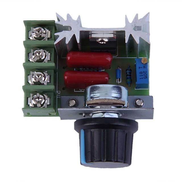 Envío Gratis 10 UNIDS/LOTE AC 220 V 2000 W Regulador de Voltaje Dimming Dimmers Regulador de la Velocidad Del Termostato