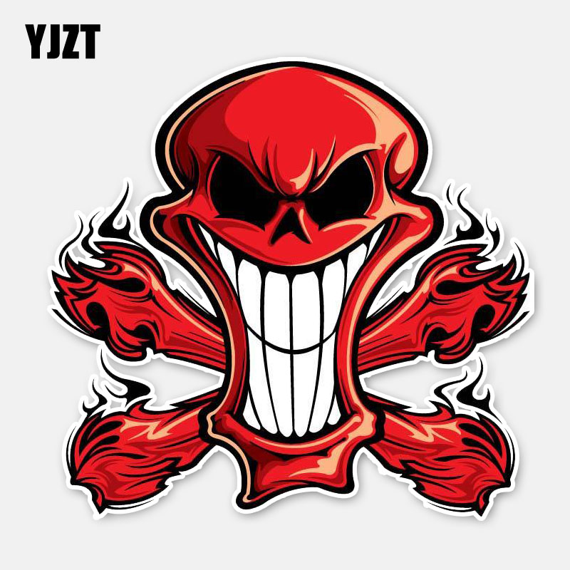 Car Stickers Ingenious Yjzt 13.8cm*13.2cm Car Body Killing Skull Fire Car Sticker Motorcycle Helmet Decal 6-2866 Back To Search Resultsautomobiles & Motorcycles