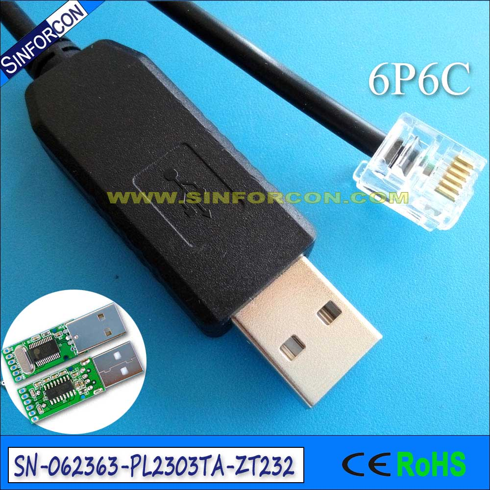 hight resolution of win7 8 win10 prolific pl2303ta usb rs232 cable with rj11 rj12 rj25 rj9 cable for cpu mcu in computer cables connectors from computer office on