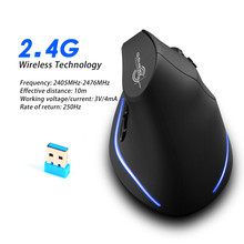 Mouse Raton Zelotes F-35 2.4GHz Vertical Wireless Rechargeable USB Gaming Computer Mice For Laptop sem fio inalambrico 18Nov26