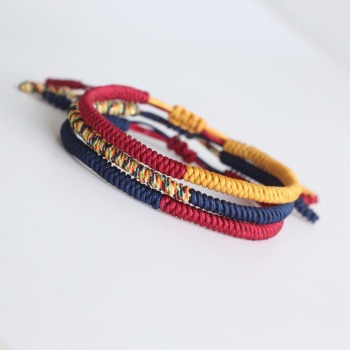 2017 Multi Color Tibetan Buddhist Lama Braided Knots Lucky Rope Bracelet For Man Women Size Adjustable Handmade Jewelry Dropship buddhist rope bracelet
