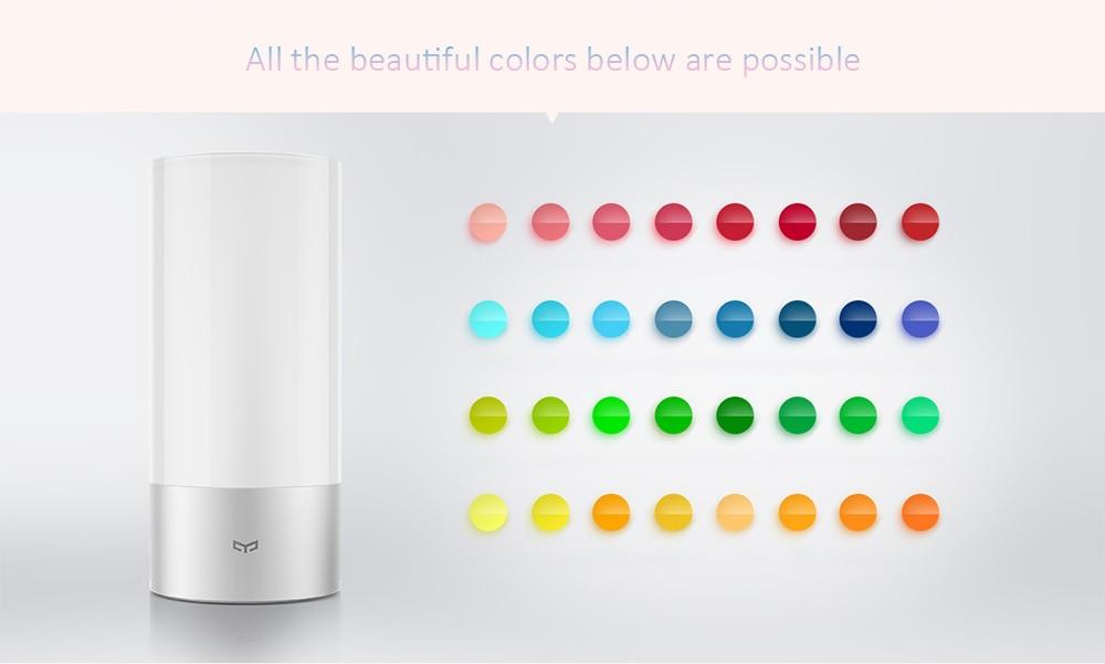 Original Xiaomi Yeelight Smart Lights Indoor Bed Bedside Lamp 16 Million RGB Light Touch Control Bluetooth For Mijia Mi home APP
