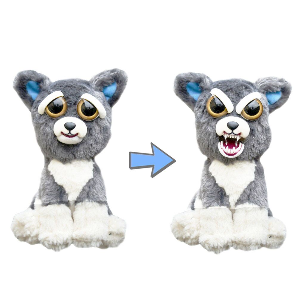 Change Face Feisty Pets by William Mark Sammy Suckerpunch the Dog Plush Toys Free Shipping