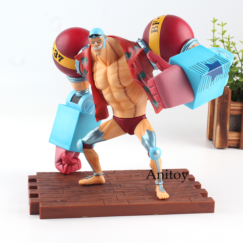 One Piece Figure One Piece Anime Franky Action Figure The New World Romance Dawn Toy 19cm