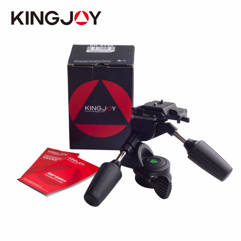 Kingjue KH-6730 Professional 3 Way Pan and Tilt Tripod Head with 14-Inch Threaded Quick Release Plate DHL fast ship