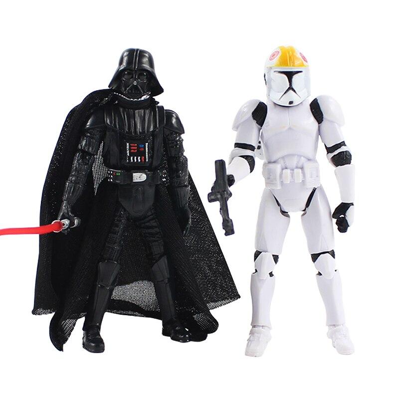 """Lot 5PCS Star Wars 2005 Darth Vader Revenge 3.75/"""" Action Figure with Lightsaber"""