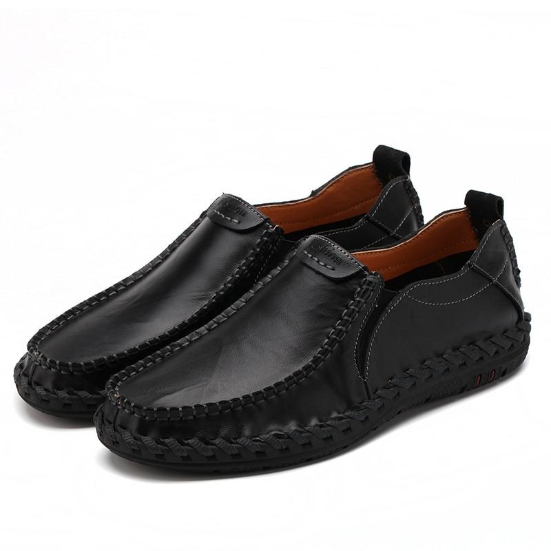 Casual Mens pantofi loafers pantofi autentic de vacă din piele - Pantofi bărbați - Fotografie 3