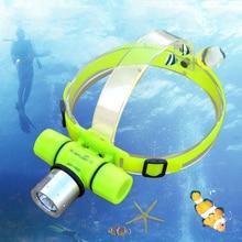 Headlamp CREE XM Q5 LED Underwater Waterproof 150m Diving Headlight Dive Flashlight IP68 Head Light Lamp