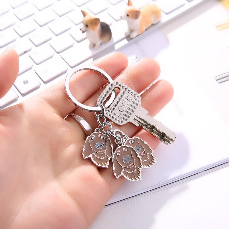 Dachshund Pet Dog Keychains Metal կախազարդ մեքենայի - Նորաձև զարդեր - Լուսանկար 6