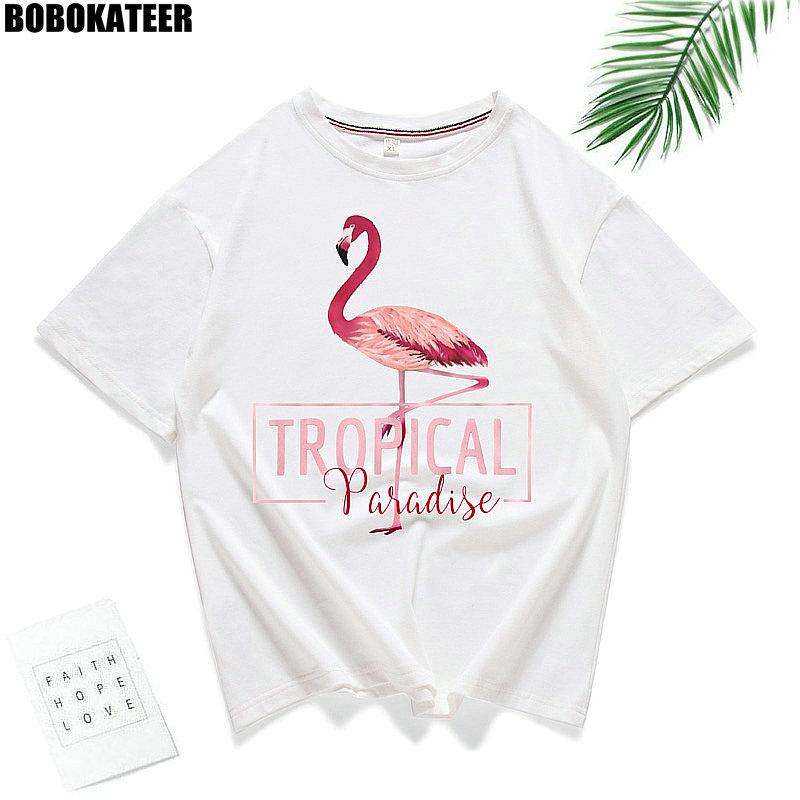 BOBOKATEER camisa Branca de T Mulheres Camiseta de Algodão Cor De Rosa de Verão T-Shirt Mulheres Encabeça Kawaii Preto Camiseta Femme Camiseta Mujer 2019
