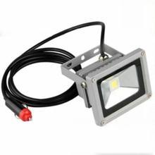 Новый Перезаряжаемые потока пятно света автомобилей Зарядное устройство автомобиля Портативный 10 Вт 12 В LED Кемпинг