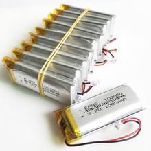 10 stücke 3,7 V 102050 1000 mAh lithium polymer lipo akku JST 1,25mm 2pin stecker für KTV haushalt wired mikrofon GPS