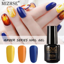 MIZHSE Amber Series Nail Gel 7ML Semipermanent Nail Polish Blossom GellNails Accessoires Magic Nail Gel Top Transparent Topjes(China)