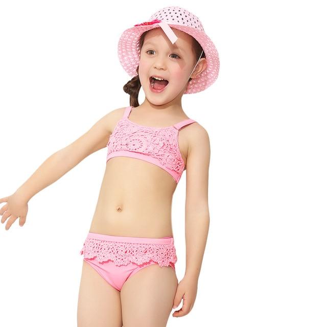 774c38b484022 Lace Baby Kids Bikini Bottoms 2017 Brand New Cute Children Swimsuit Bathing  Suit Kawaii Swimwear Girls Two Piece Swimsuit