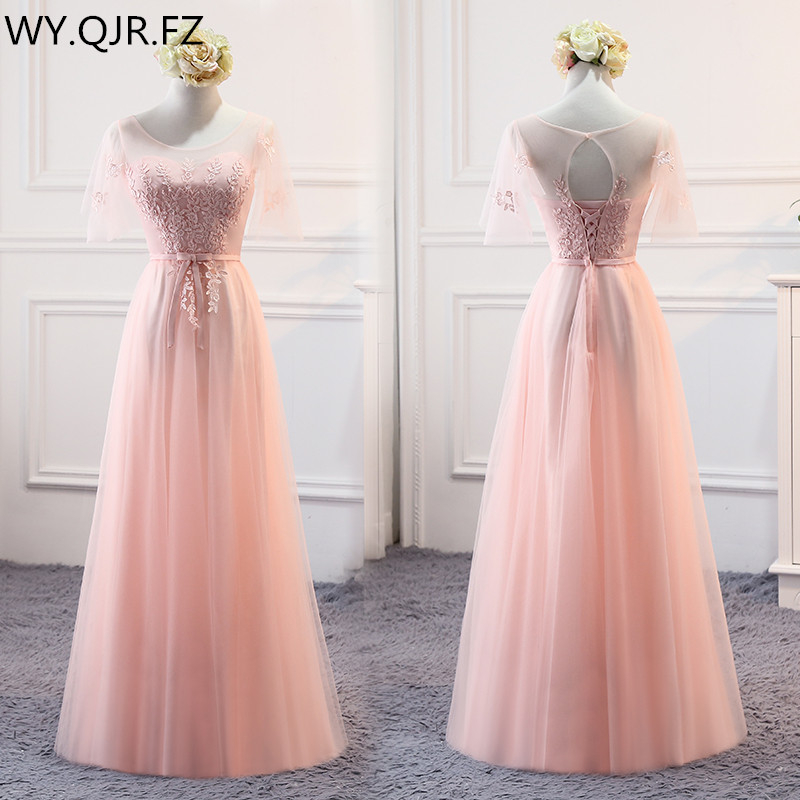 MSY03Y#Pink Lace Up Bridesmaid Dresses Long Middle Short Style Wedding Party Dress Prom Gown Wholesale Women Clothing Girls