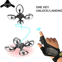 2019 new original W606 16 Valcano gloves control interactive mini drone Quadcopter Wifi FPV 480P camera RC helicopter