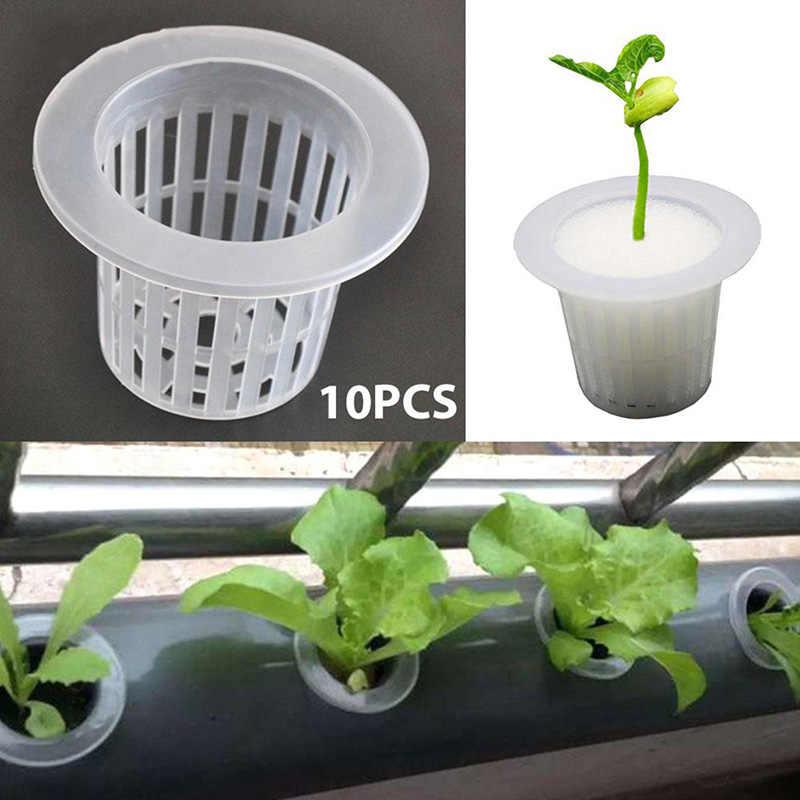 10 pces planta de flor para plantas crescimento acessórios soilless cultivo pote resistente malha pote net copo vegetal crescer cesta