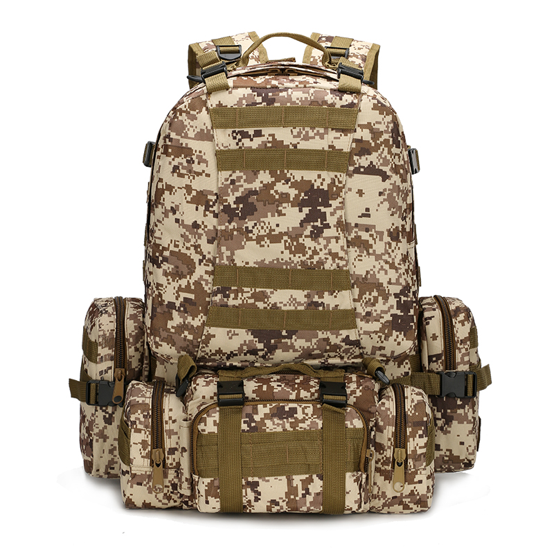 Hot Selling Bag Men Army Camouflage Backpack 4 Combination Backpack High Quality Waterproof Large Capacity Backpack Male Bag B08