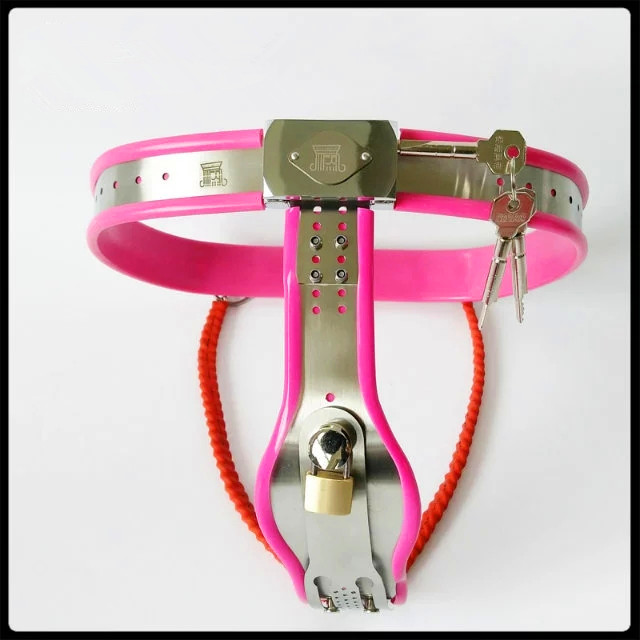 Sex tools shop sexy Stainless steel female chastity belt device sex toys bdsm fetish bondage harness set slave game women toys. female chastity belt body bondage harness strapon erotic toys for women sex game toys ll265