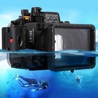 40 м 130ft подводное плавание дайвинг случае Водонепроницаемый Камера сумка Корпус Обложка сумка для Panasonic LUMIX DMC LX100 LX100
