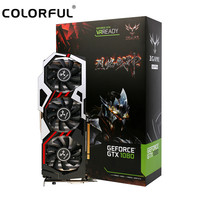 Original Colorful GeForce iGame GTX 1080 UT V2 Top Graphics Card 256bit GDDR5X Computer Hardware with Cooler Fan Graphics Card