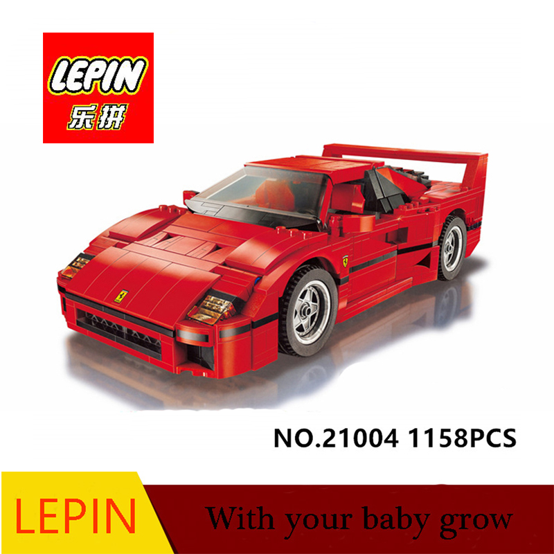 LEPIN Technic series Lepin 21004 Ferrarie F40 Sports Car Model Building Blocks Kits Bricks Toys Compatible with 10248 free shipping lepin 21002 technic series mini cooper model building kits blocks bricks toys compatible with10242