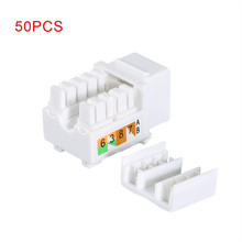 50 Pcs Generic CAT6 RJ45 Keystone Jack Punch-Down Stand Ethernet Module Network Coupler QJY99