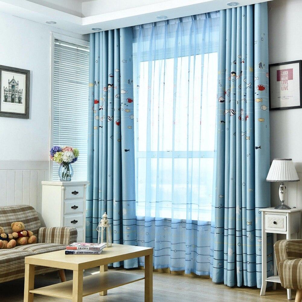 blu patterned tende promozione-fai spesa di articoli in promozione ... - Modelli Di Tende Per Camera Da Letto