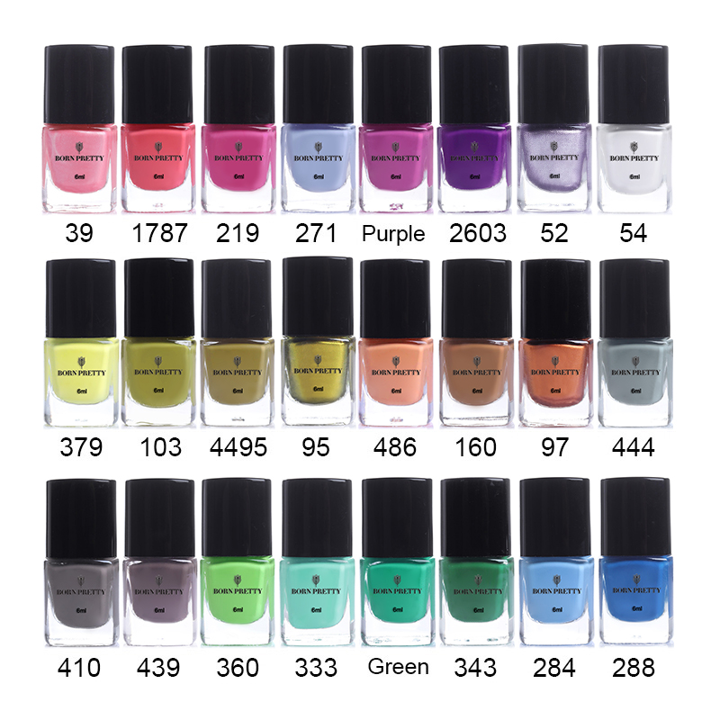 BORN PRETTY 6 ml Estampado Esmalte Nail Art Placa de Impresión Barniz 24 Colores Nail Art Manicure Laca