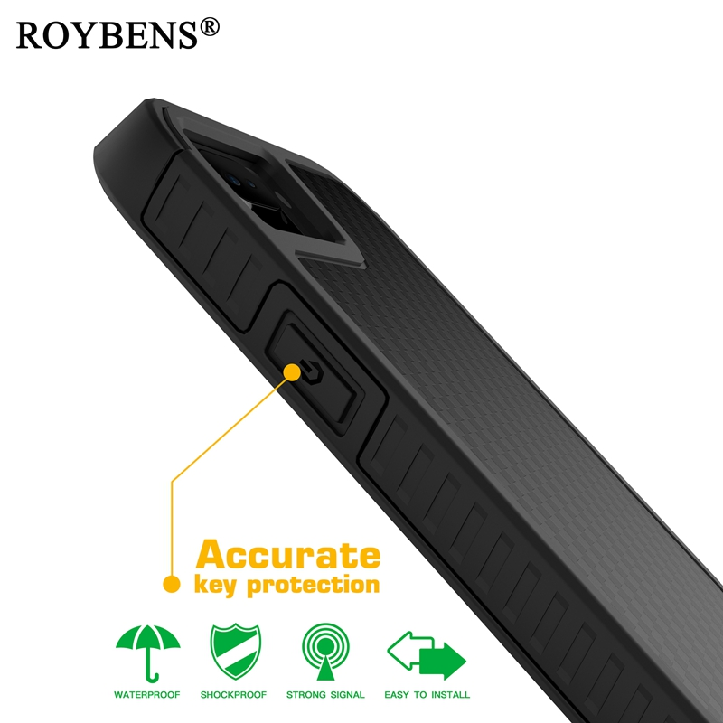 Roybens For iPhone 7 Case Heavy Duty Anti-Knock Hard Carbon Fiber Case For iPhone 7 Plus PC TPU Hybrid Armor Cover Shockproof