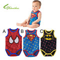 Baby Boy Romper Superman Spider-Man Short Sleeve Sleevesless Summer Clothing Set Christmas Costume Gift Boys Rompers Free Ship