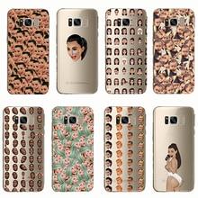 Phone Cover Funny Face Kimoji Kim Kardashian Kanye Soft Silicone Cases for Samsung Galaxy S8 S9 S10 plus Note 8 9 C9 C8