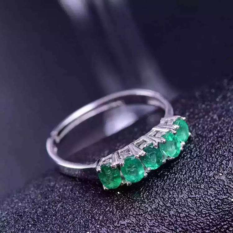 925 sterling silver Emerald Rings gift for women jewelry emerald Wedding ring open rings Fine Jewelry classic 10 75ct nano russian emerald ring emerald cut solid 925 sterling silver ring set best brand fine jewelry for women