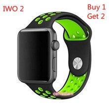 IWO 2 Actualización Inteligente Reloj Bluetooth Smartwatch MTK2502c IWO 1:1 Con Reproductor de Música de Ritmo Cardíaco Reloj W51 para iOS Android PK DM09