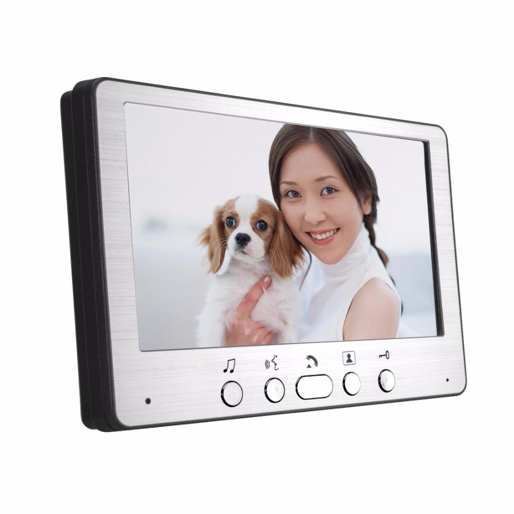 SmartYIBA 7 Color Video Door Phone Video Intercom 1 Monitor Doorbell Camera Intercom Kit IR Night Vision Camera for Apartment