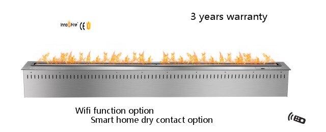 60 pouces télécommande d'intérieur de luxe Bio éthanol noir ou argent smart elec cheminée