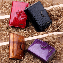Real Patent Leather Short Wallets