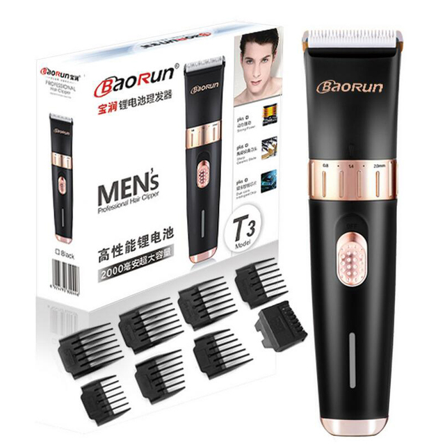 Professional Hair Trimmer Electric Hair Cutter Hair Cutting Machine To Haircut Hairclipper Barber Clippers 8pcs shaving combs