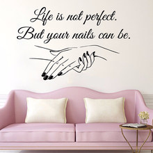 Nail Salon Quote Wall Decals Nail Art Polish Wall Mural Beauty Salon Decoration Manicure Vinyl Art Window Vinyl Sign L771(China)