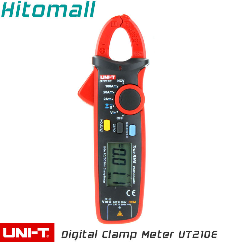 True RMS UNI-T Digital Clamp Multimeters Auto Range  2000 Counts 100A 600V Clamp Meter Unit Ammeter Voltmeter UT210E