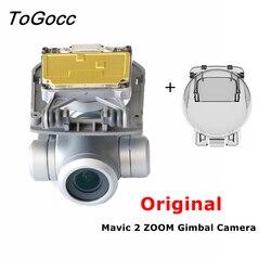 Oryginalna kamera kardanowa do DJI Mavic 2 Zoom naprawa części czujnik z modułem kamery osłona obiektywu płaska część zamienna kabla elastycznego