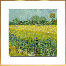 Hand-painted famous painter (Vincent Willem van Gogh  pastoral scenery oil painting decorative hotel lobby sofa large murals