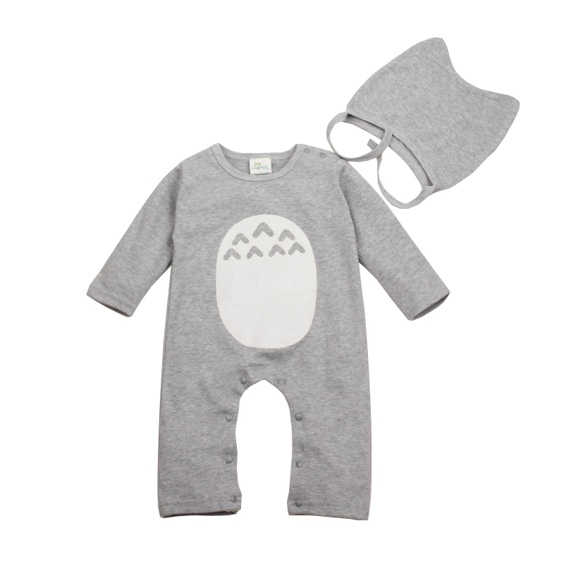 Infant Baby Romper Jumpsuit Clothes Cotton Full Sleeve Cartoon Totoro Cute Newborn Toddler Baby Romper Clothes For Boy Girl infant cute cartoon dinosaur baby boy girl rompers soft cotton car printed long sleeve toddler jumpsuit kids clothes