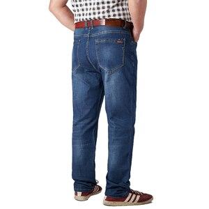 Image 5 - בתוספת גודל 32 52 גברים קלאסי ישר בבאגי ג ינס חדש קיץ זכר דק מזדמן רגיל Fit ינס מכנסיים גדול גודל סרבל עבור Mens