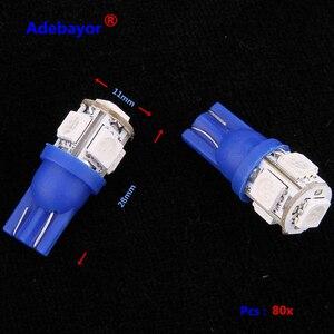Image 3 - 80 X DC 24V T10 194 168 5 SMD 5050 LED voiture indicateur led lumière intérieur ampoules instrument lumière cale lampe 24V