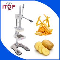 Manual 3 Blades Fruit Apple Vegetable Slicer Commercial Kitchen Potato Chip Press Machine French Fry Cutter
