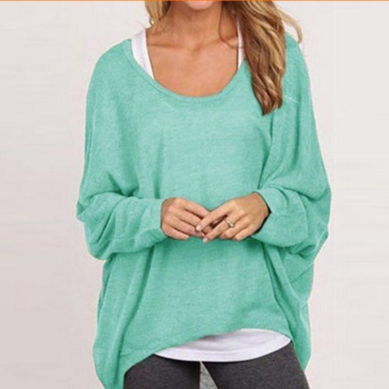 Aliexpress.com : Buy Fashion Loose Casual Long Sleeve T Shirts ...