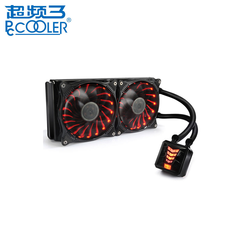 PCCOOLER CPU Water-cooled Radiator Integrated CPU Heatsink Water Cooling Radiator Cooler Fan 120 240 For Desktop Computer мягкие игрушки абвгдейка мягкая игрушка белуха l 40 см