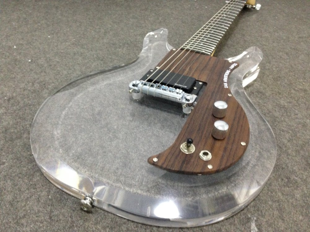 New style acrylic body electric guitarDan Armstrong Ampeg guitar