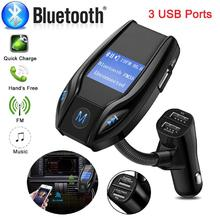 Adeeing Auto Wireless In-Car Bluetooth FM Transmitter MP3 Radio Adapter Car Kit USB Charger Electrics